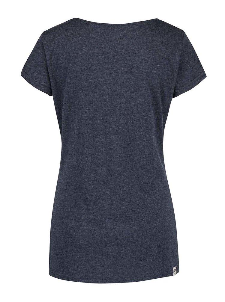 Tricou albastru închis Ragwear Mint a organic cu print