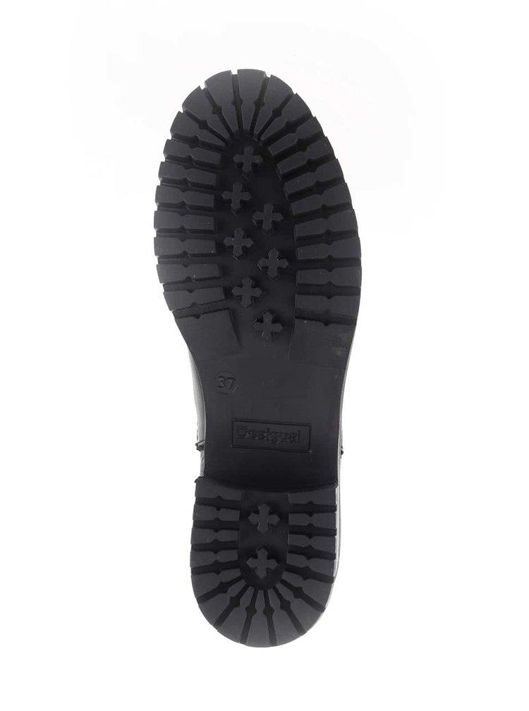 Čierne chelsea topánky s farebným vzorom Desigual Charly