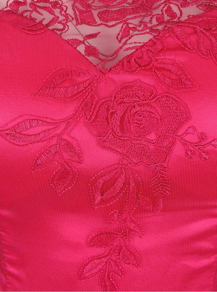 Ružové čipkované šaty Chi Chi London Ruthie