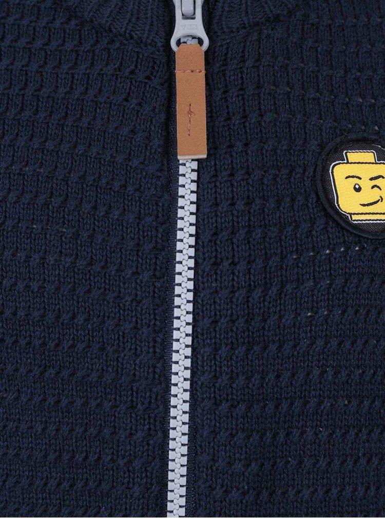 Tmavě modrý klučičí svetr na zip LEGO Wear Kendi