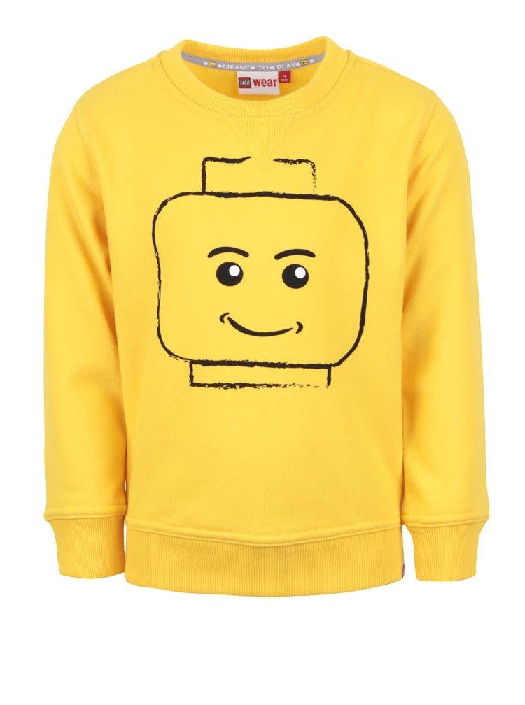 Žltá chlapčenská mikina s motívom LEGO Wear Skeet
