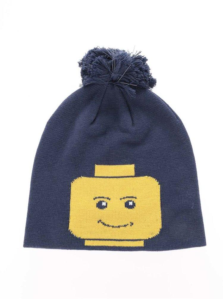 Tmavě modrý klučičí kulich s motivem LEGO Wear Ace