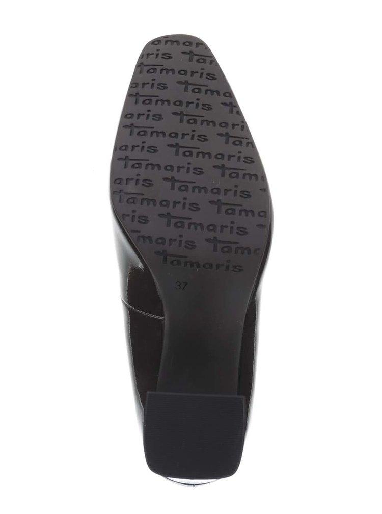 Pantofi cu toc Tamaris gri închis