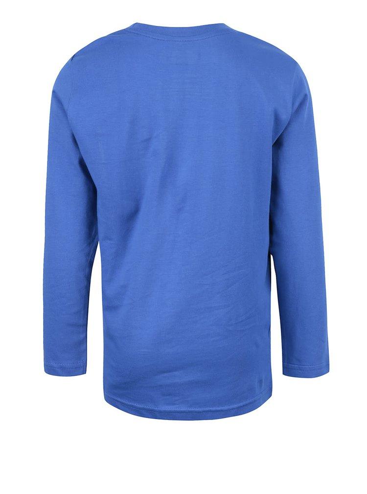 Modré chlapčenské tričko s potlačou a dlhým rukávom LEGO Wear M-Line