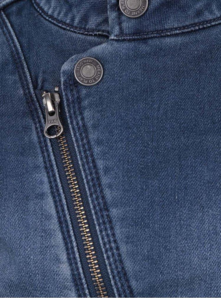 Modrá holčičí džínová bunda s asymetrickým zapínáním LEGO Wear Sage
