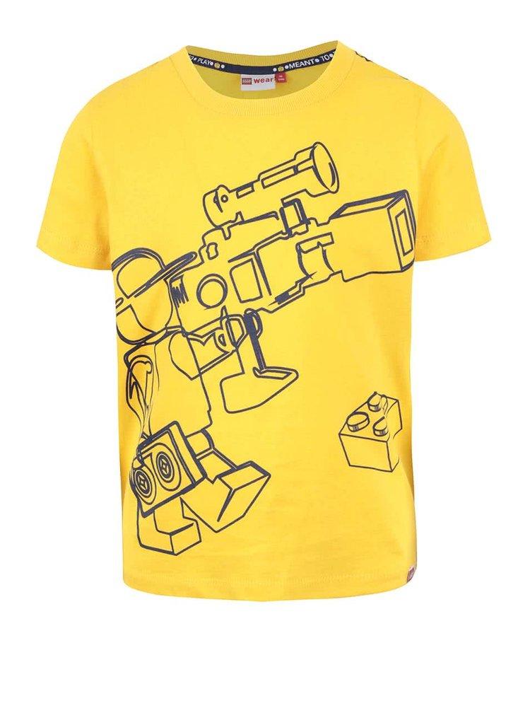 Žluté klučičí triko s potiskem LEGO Wear Tony