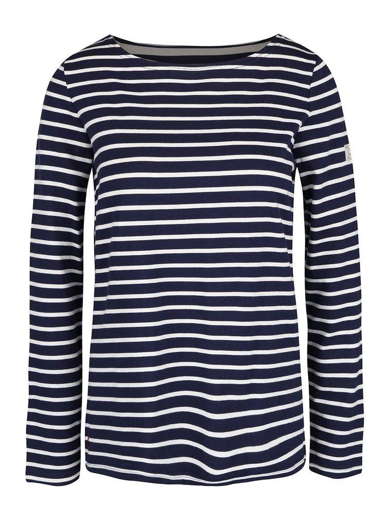 Tmavě modré dámské pruhované tričko s dlouhým rukávem Tom Joule Harbour