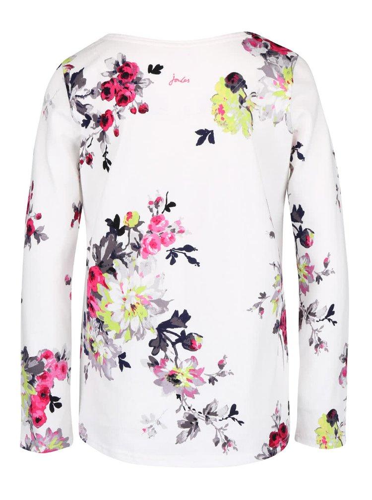 Krémové dámske kvetované tričko s dlhým rukávom Tom Joule Harbour