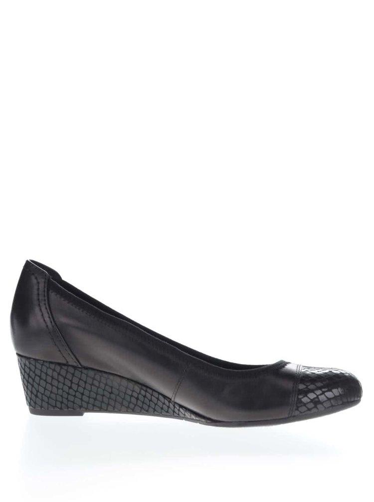 Pantofi cu platforma Tamaris negri