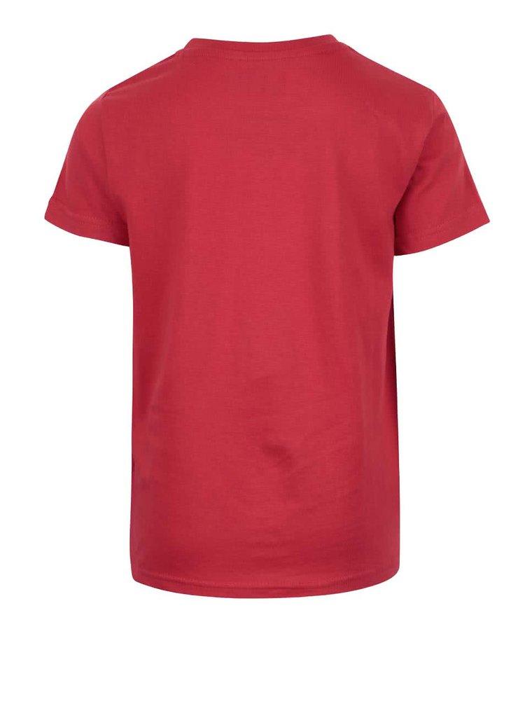 Červené chlapčenské tričko s potlačou LEGO Wear M-Line