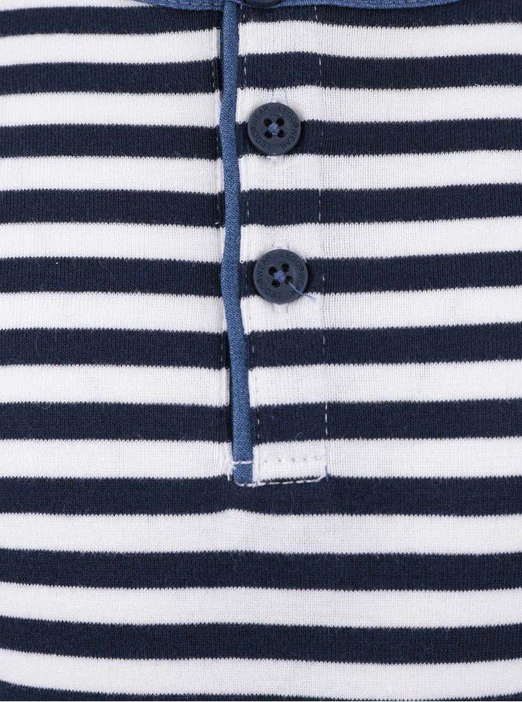 Modro-bílé pruhované klučičí triko s dlouhým rukávem LEGO Wear Tony