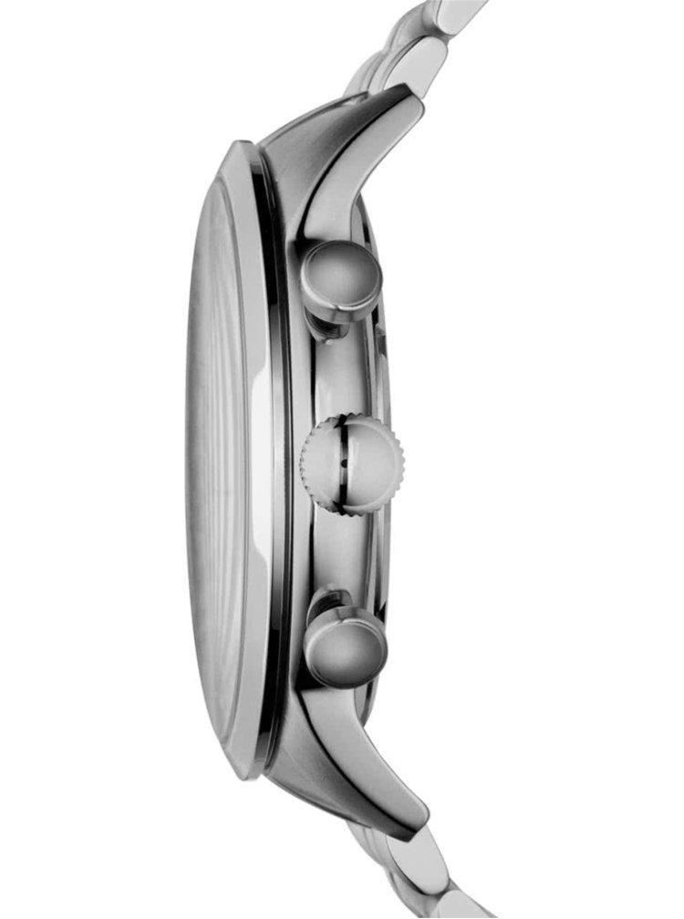 Pánske hodinky v striebornej farbe s nerezovým remienkom Fossil