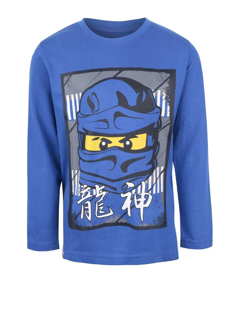 Modré klučičí triko s potiskem a dlouhým rukávem LEGO Wear M-Line