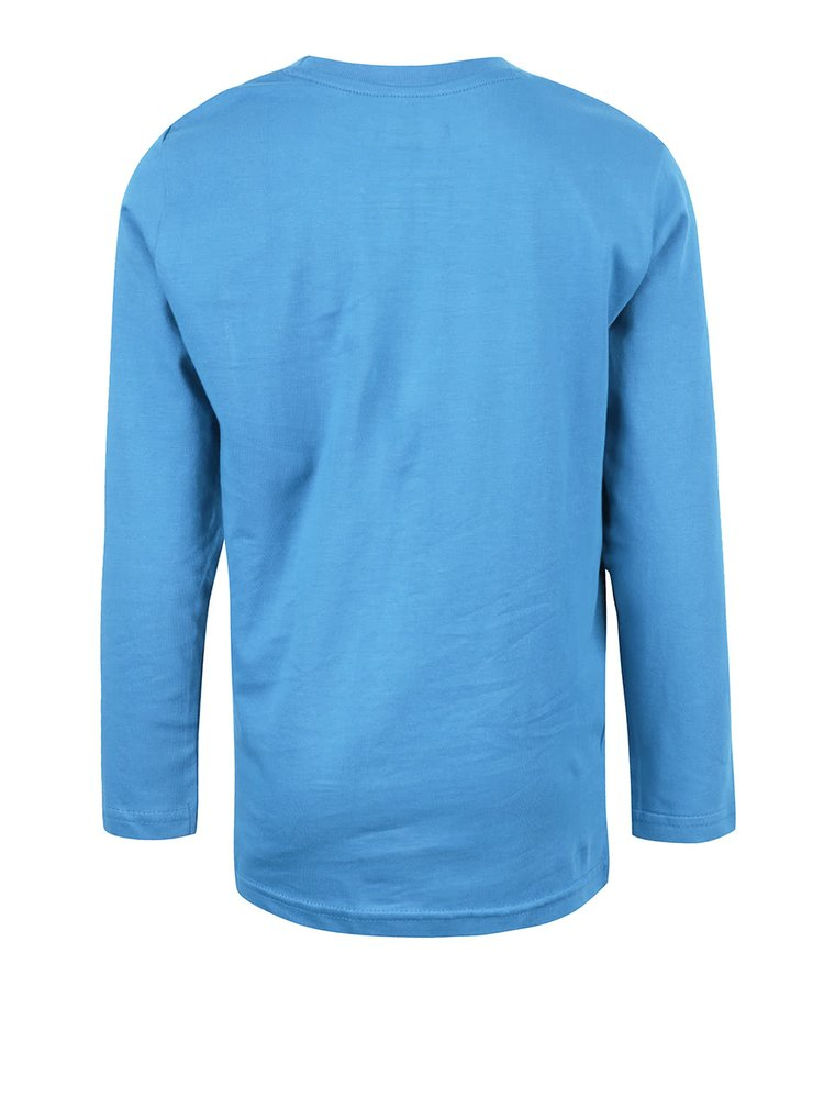 Modré chlapčenské tričko s potlačou a dlhým rukávom LEGO Wear Tony