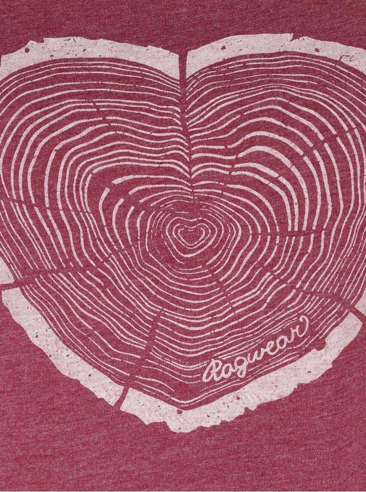 Červené dámske tričko Ragwear Sugar a organic