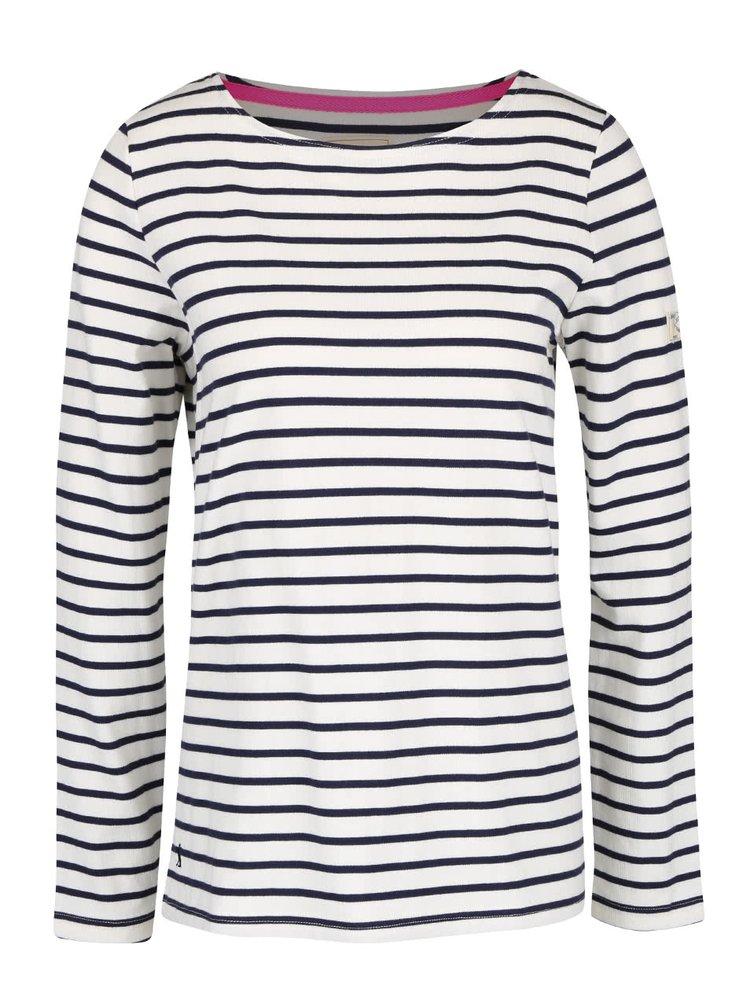 Krémové dámské pruhované tričko s dlouhým rukávem Tom Joule Harbour