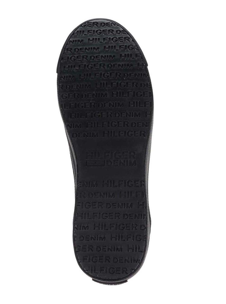 Tmavomodré dámske semišové chelsea topánky na platforme Tommy Hilfiger