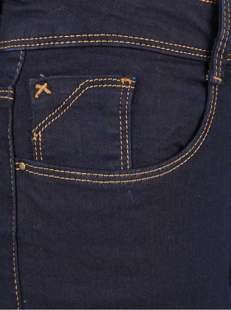 Tmavě modré super skinny džíny s prošívanými švy Dorothy Perkins