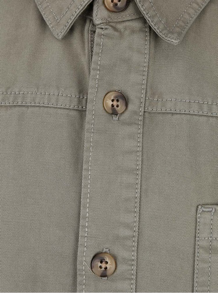 Jacheta kaki Burton Menswear London din bumbac