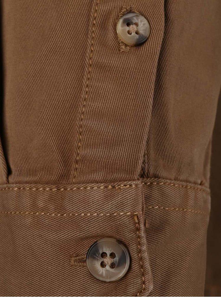 Jachetă maro Burton Menswear London din bumbac