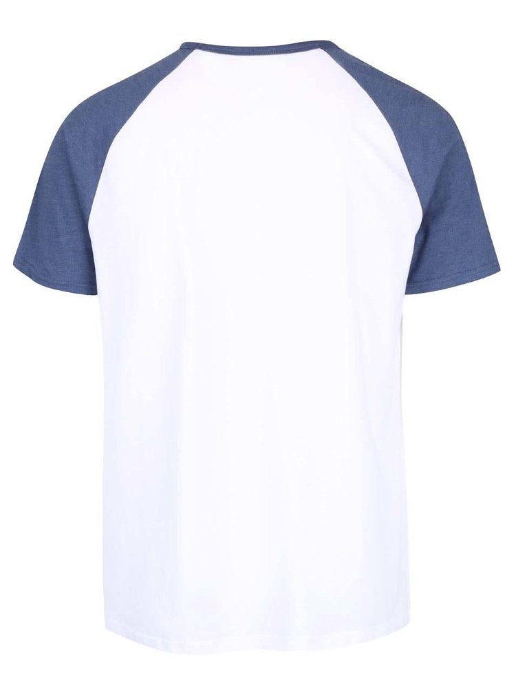 Tricou alb cu maneci albastre Burton Menswear London din bumbac