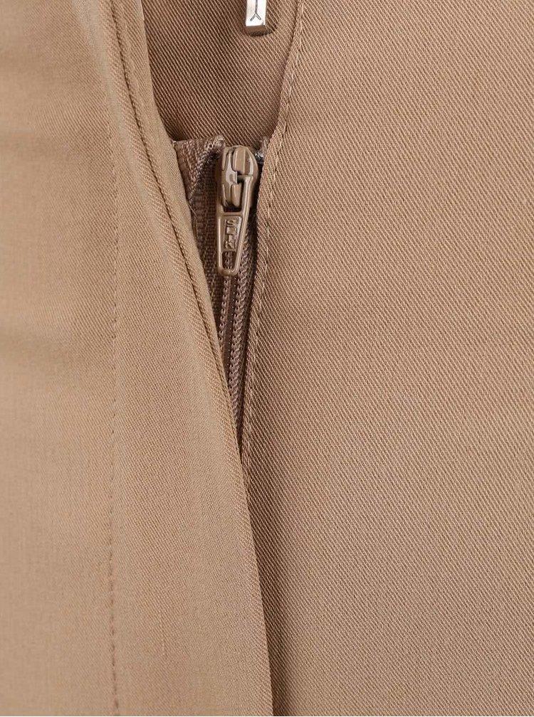 Béžové osminové nohavice s opaskom Dorothy Perkins