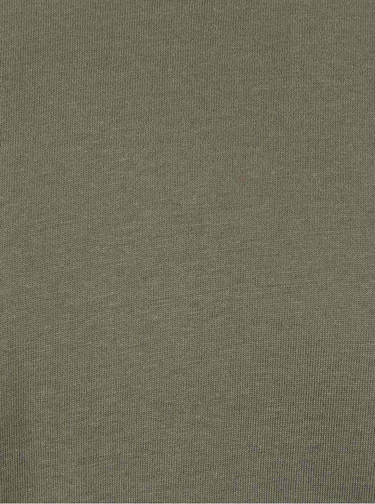 Khaki basic triko Burton Menswear London