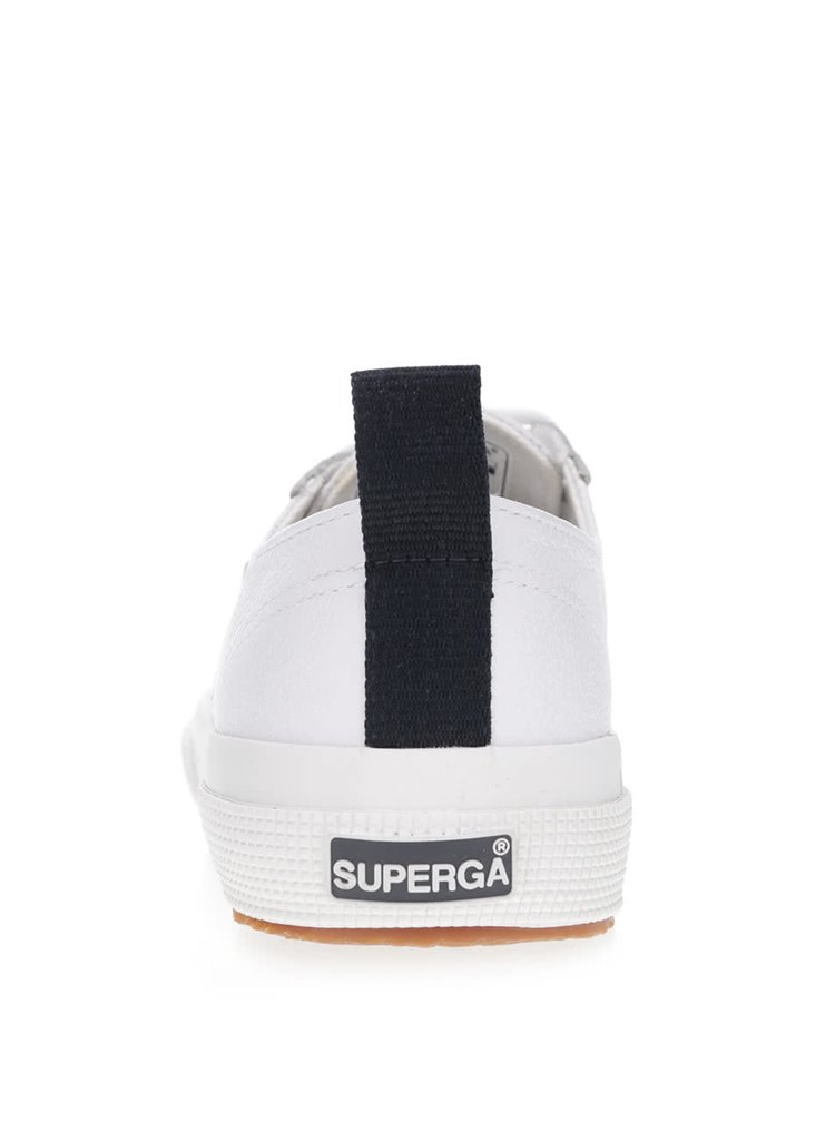 Bílé kožené unisex tenisky Superga