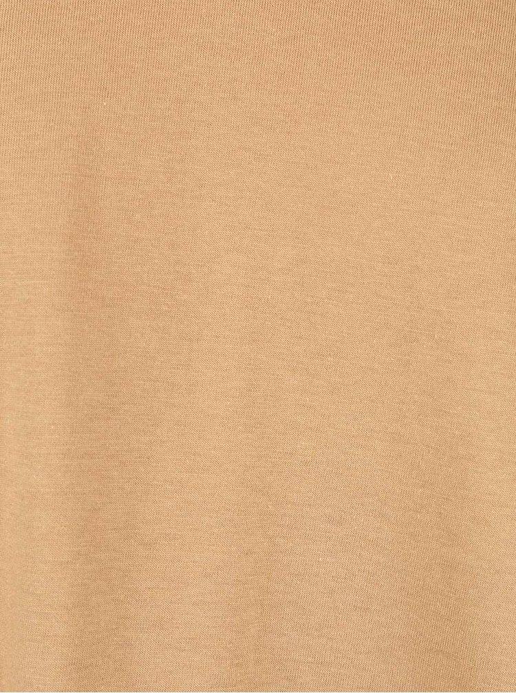 Světle hnědé triko s véčkovým výstřihem Burton Menswear London