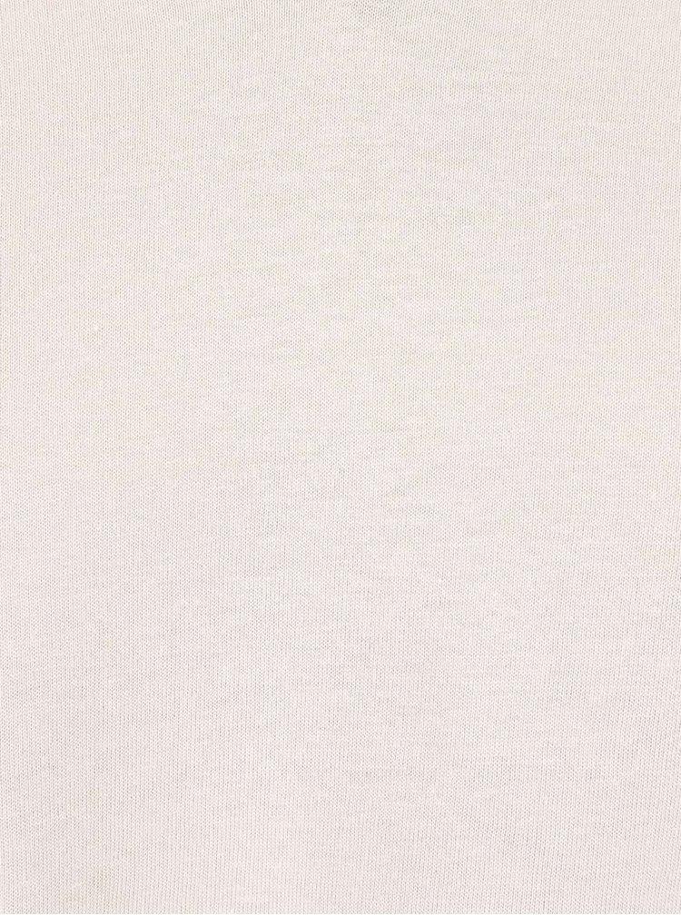 Světle šedé triko s véčkovým výstřihem Burton Menswear London