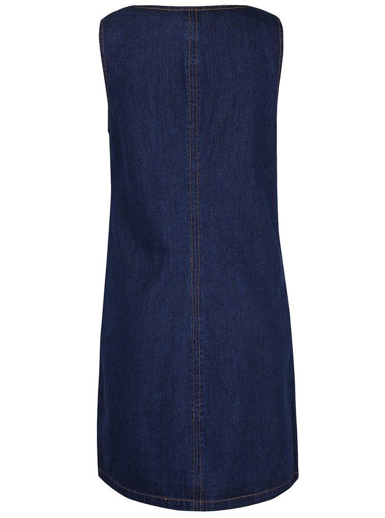 Modré rifľové šaty s vreckami Dorothy Perkins