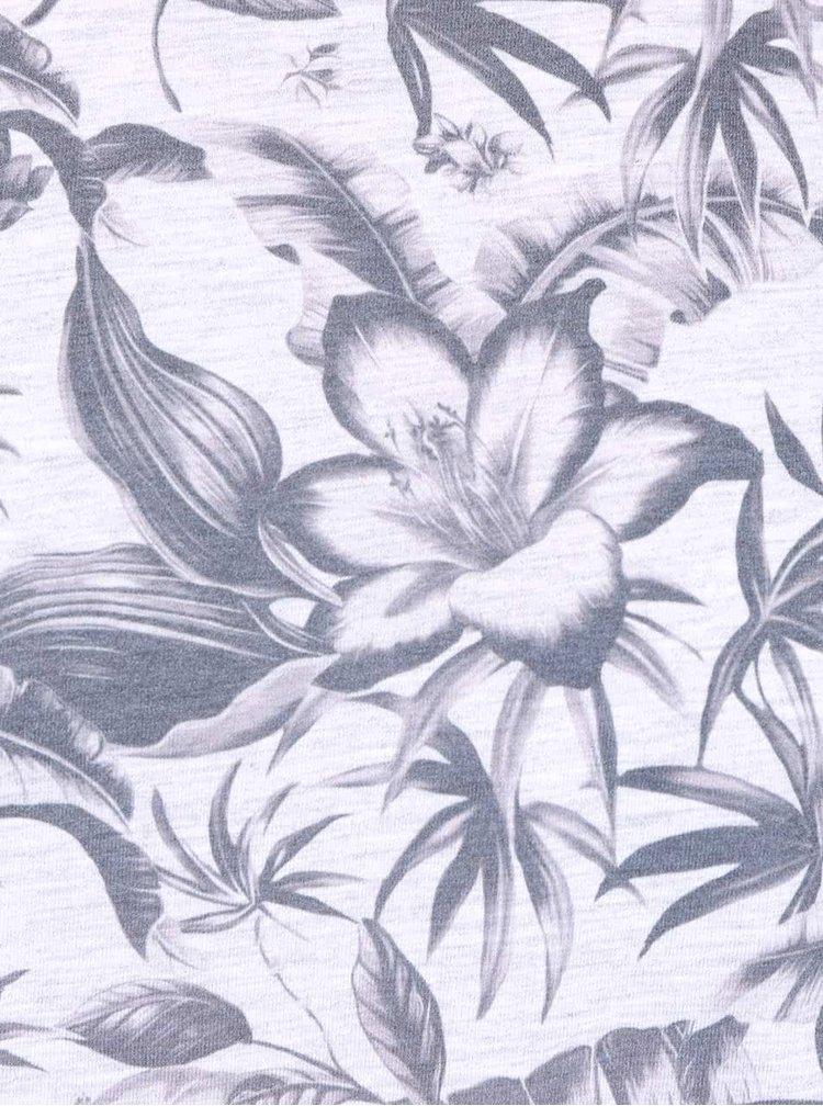 Sivé tričko s kvetovaným vzorom Burton Menswear London
