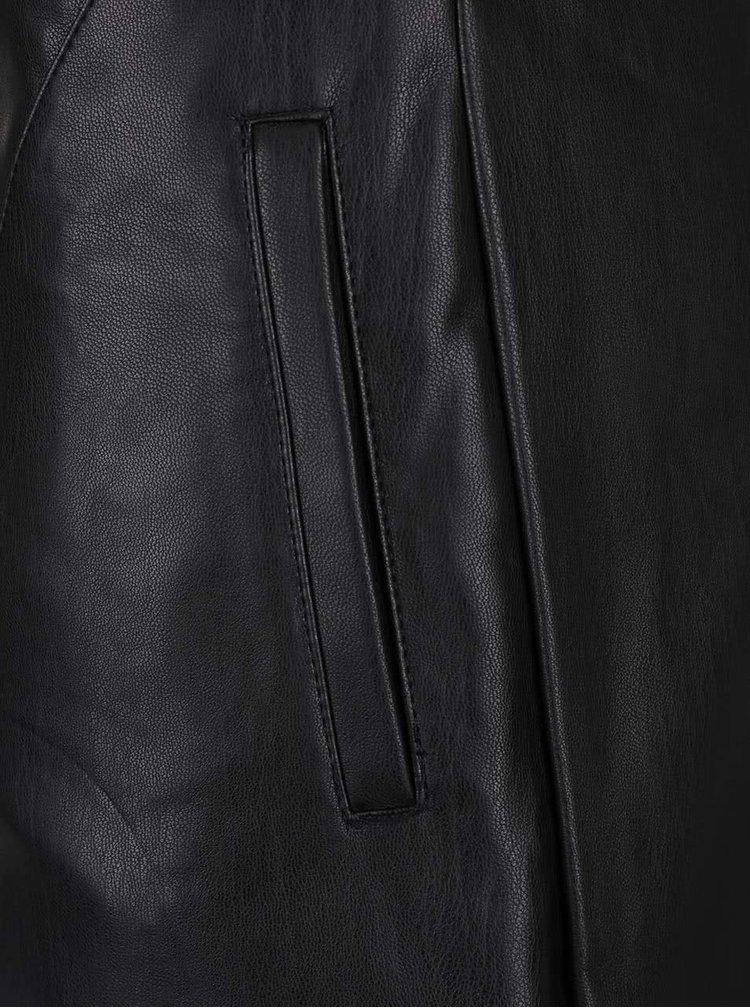 Fustă neagră Dorothy Perkins din piele sintetică