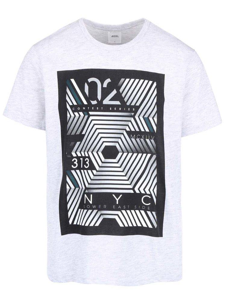 Šedé triko s potiskem Burton Menswear London