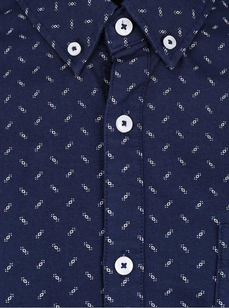 Cămașă albastră Burton Menswear London cu imprimeu discret