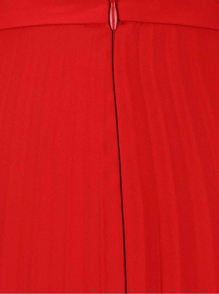 Fusta rosie Dorothy Perkins cu pliuri
