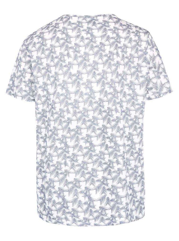 Modro-krémové vzorované tričko Burton Menswear London