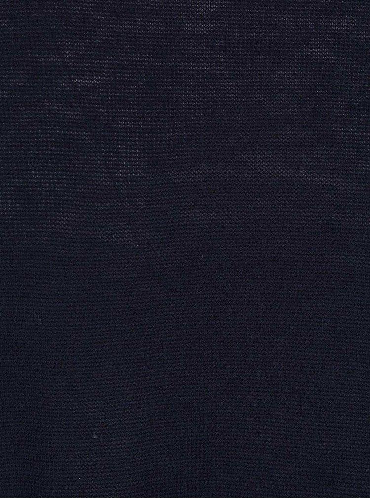 Tmavě modrý cardigan s krajkovým lemem Dorothy Perkins