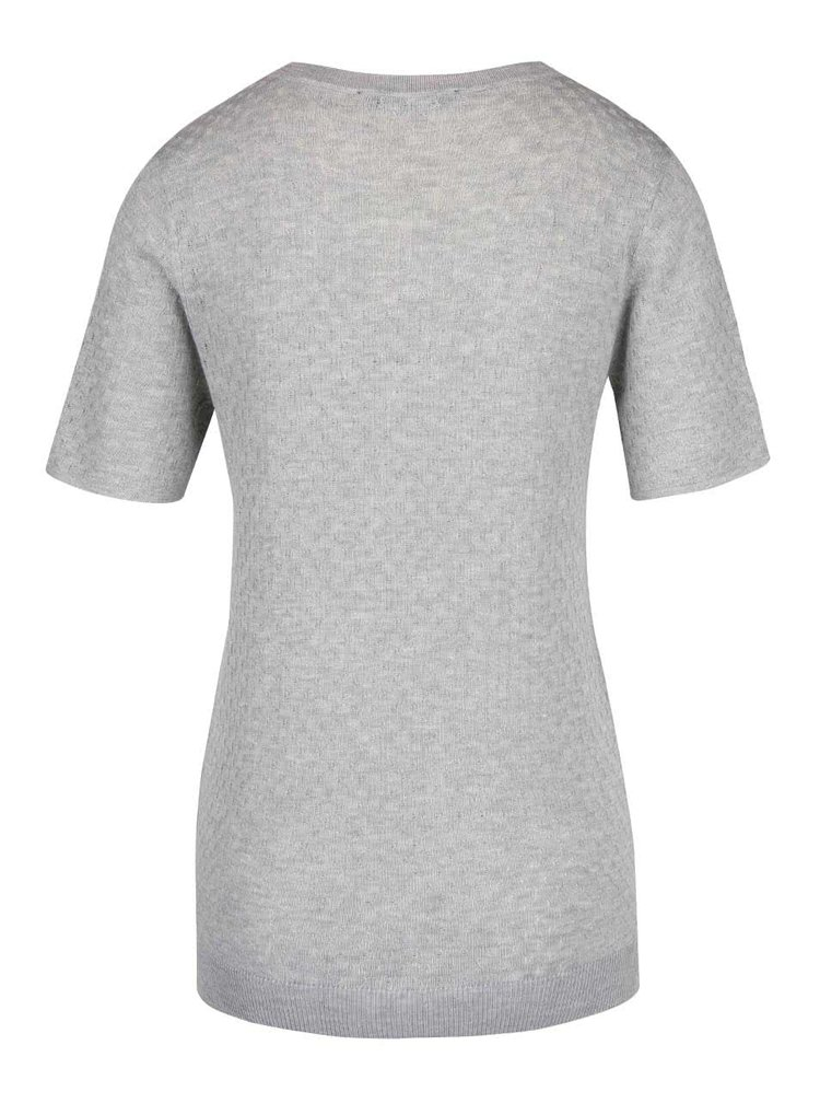 Šedé svetrové tričko s krajkovým detailem Dorothy Perkins