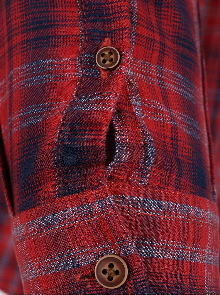 Modro-červená károvaná košeľa Burton Menswear London