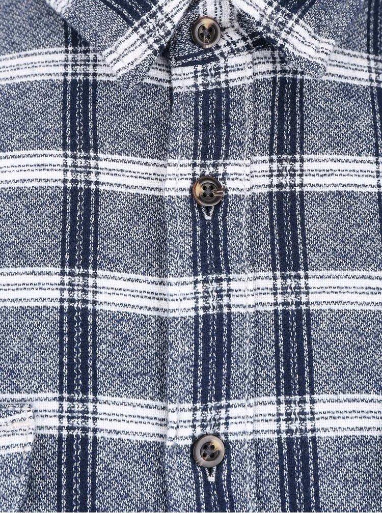 Camasa albastra din bumbac Burton Menswear London in carouri