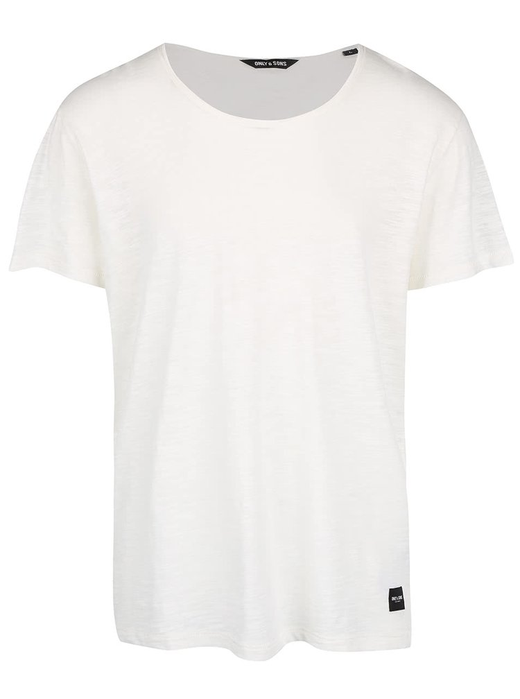 Tricou alb ONLY & SONS Albert din bumbac