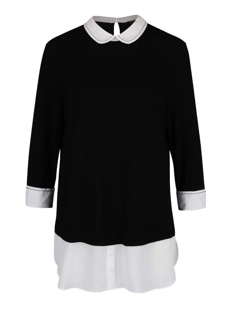 Bluză neagră cu aspect 2în1 Dorothy Perkins