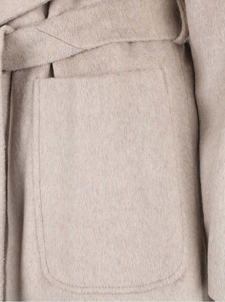 Béžový žíhaný kabát Dorothy Perkins