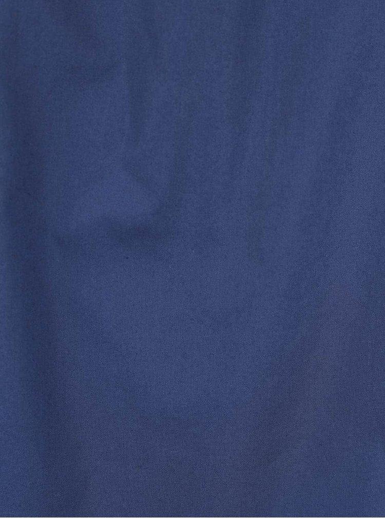 Tmavomodré šaty s odhalenými ramenami Closet