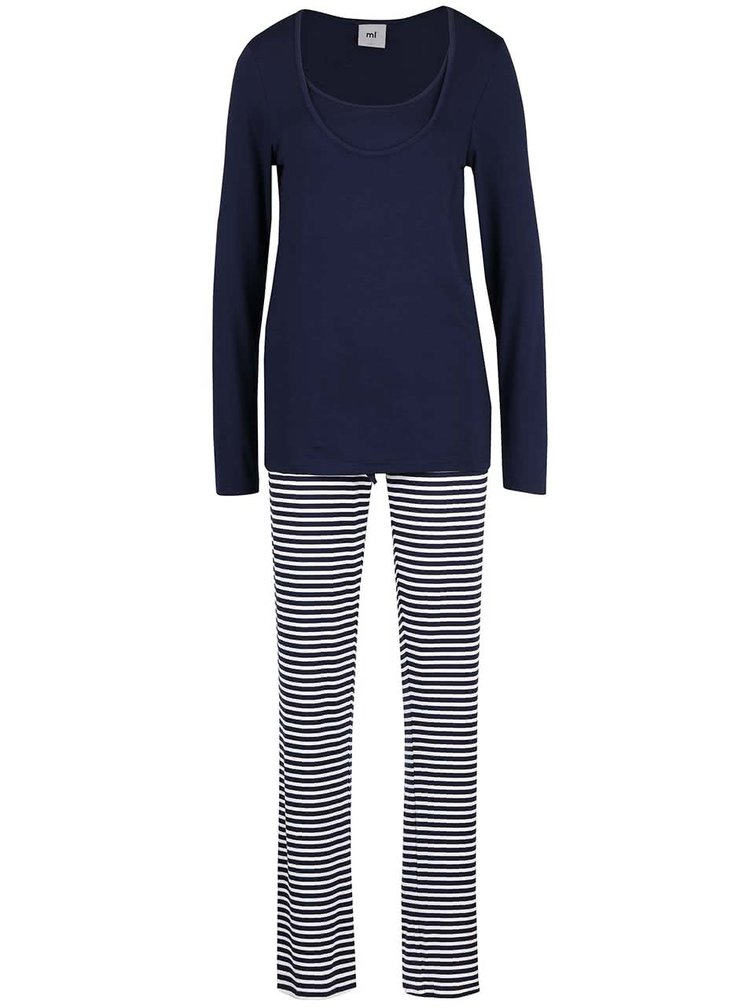 Pijamale Mama.licious Tanny albastru închis