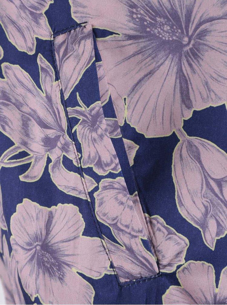 Modrý kvetovaný bomber Miss Selfridge