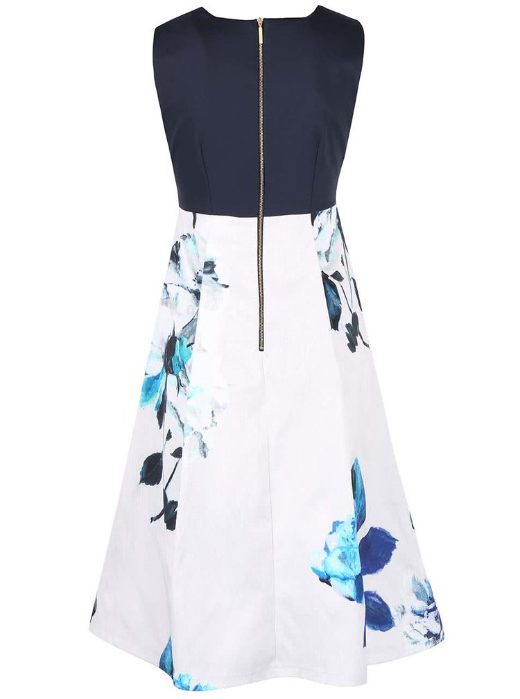 Krémovo-modré šaty s kapsami Closet