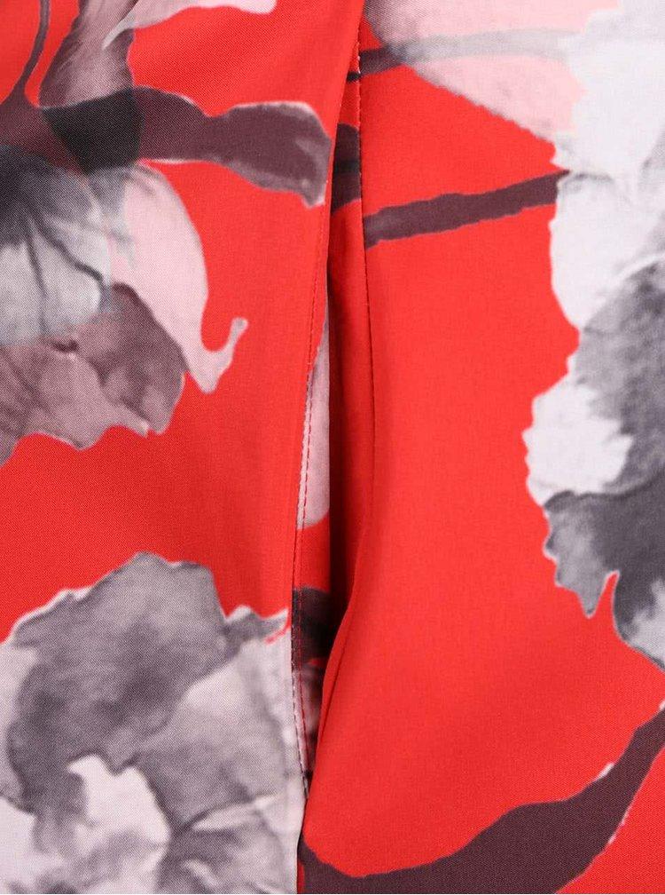 Červené kvetované šaty Closet