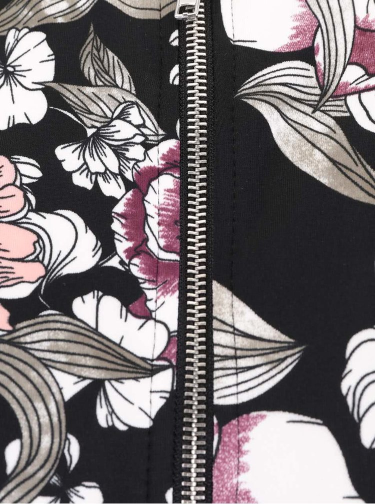 Čierny kvetovaný bomber Miss Selfridge